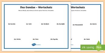 Draw Your Own Vegetable Word Mat German - Food, Fruit, Vegetables, German, Obst, Gemüse