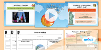 PlanIt Y4 Explorers: James and the Giant Peach Lesson Pack Persuasive Writing 2 - Explorers: James and the Giant Peach, Roald Dahl, Persuasive Writing, Tourist Information Leaflet, T