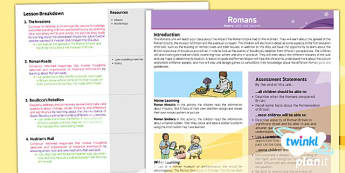 History: The Romans LKS2 Planning Overview