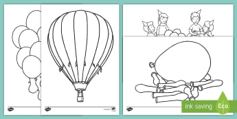 Balloon-Themed Colouring Pages - EYFS, Early Years, KS1, Key Stage 1, birthday, party, balloons, colouring sheet.