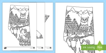 Canada's Provinces and Territories Mindfulness Colouring Pages - Canada's 150th Birthday, canada, provinces, territories, country, symbols, colouring page, canadian