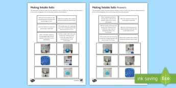 Making Soluble Salts Picture Sequencing Cards - Sequencing Cards, gcse, chemistry, required practical, required practicals, RPI, making salt, making