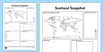 Scotland Snapshot - CfE, second level, fact file, people and place, Scotland