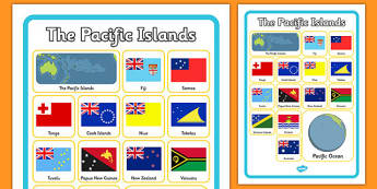 The Pacific Islands Word Grid
