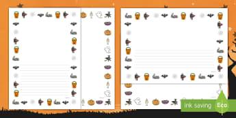 Bordas de página de Halloween - halloween, festa de halloween, dia das bruxas, bruxas, vampiros, monstros, fantasmas, terror, celebr