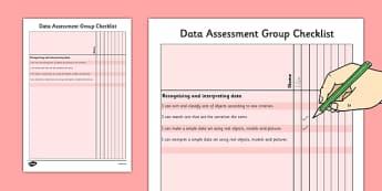 1999 Curriculum Junior Infants Data Assessment Group Checklist - roi, irish, gaeilge, assessment, checklist, maths, junior infants, data