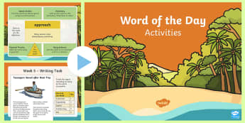 Year 3 Autumn 1 Word Of The Day Activity PowerPoint - Year 3 spelling, Year 3 writing, Year 3 wow words, wow words, vocabulary.