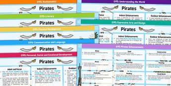 EYFS Pirate Themed Lesson Plan and Enhancement Ideas - treasure, lesson ideas, lessons