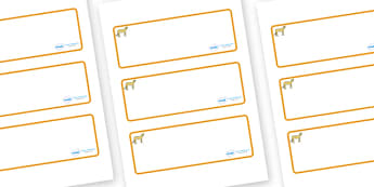Cheetah Themed Editable Drawer-Peg-Name Labels (Blank) - Themed Classroom Label Templates, Resource Labels, Name Labels, Editable Labels, Drawer Labels, Coat Peg Labels, Peg Label, KS1 Labels, Foundation Labels, Foundation Stage Labels, Teaching Labe