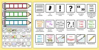 Editable Writing Target Cards Pencils - writing targets, writing target cards, editable, pencils, editable pencils, editable writing targets, targets