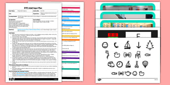 Eye Test EYFS Adult Input Plan and Resource Pack - Opticians, people who help us, glasses, eye test, numbers, letter, shapes, clearly, improve, sight