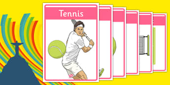 The Olympics Tennis Display Posters - Tennis, Olympics, Olympic Games, sports, Olympic, London, 2012, display, banner, poster, sign, activity, Olympic torch, events, flag, countries, medal, Olympic Rings, mascots, flame, compete
