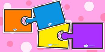 Editable Jigsaw Pairs - jigsaw, jigsaw pairs, editable jigsaw, classroom games, classroom activities, games, activities, matching games, class management