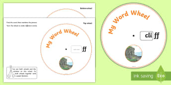 Phonics Digraph Word Wheel (ff) - Phonics, Digraph, word wheel, ff, DfES Letters and Sounds, Letters and Sounds