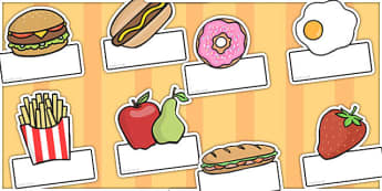 Editable Food Labels - food, editable labels, labels, food labels