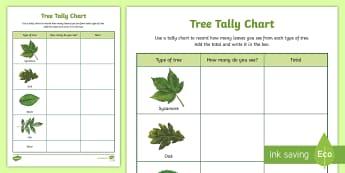 Tree Tally Chart Outdoor Activity - World Around Us KS2 - Northern Ireland, tree, tally, maths, outdoor, outdoor learning, nature, livin