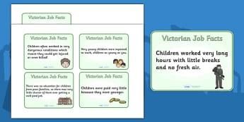 The Victorians Types of Jobs for Children Flash Cards - Victorians, Queen Victoria, 19th century, British History, Britain, Victorian toys, Victorian school, butler