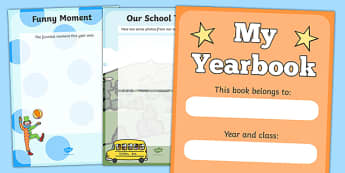 End Of Year Scrapbook - Primary Transition Scrapbook Activity