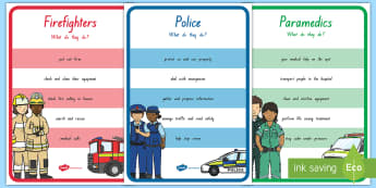 Emergency Information Display Posters  - People Who Help Us, heroes, community, New Zealand, Years 1-3, jobs, social sciences, posters, param