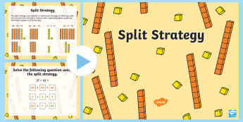 Split Strategy PowerPoint - Mathematics, Year 1,  Number and Algebra, Number and place value, ACMNA015, split strategy, addition