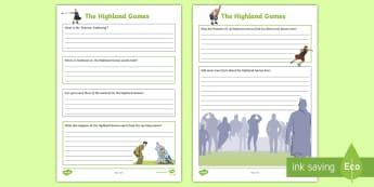 Highland Games Fact File Research Activity - CfE Social Studies resources, technologies, TCH, independent research, finding information, facts, S
