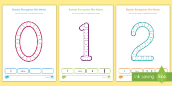 Number Recognition 0-20 Dot Marker Activity Sheets - Learning Numbers Activity, Number Fine Motor Skills, Recognizing Numbers, Dot Marker Actvivities, Wo