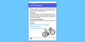 Elderly Care Calendar Planning September 2016 Tour of Britain - Elderly Care, Calendar Planning, Care Homes, Activity Co-ordinators, Support, September 2016