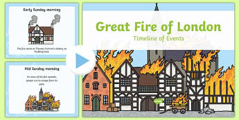 Great Fire of London Timeline PowerPoint - great fire of london, timeline powerpoint, great fire of london timeline, powerpoint, information powerpoint
