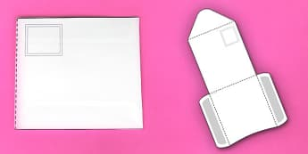 Interactive Envelope-Shaped Pocket Visual Aid Template (Longer) - envelope