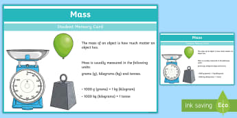 Sixth Class Weight Fact Cards - weight, facts, cards, memory, learning log, maths journal,Irish