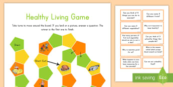 Healthy Eating and Living Game - healthy living, healthy eating, game, activity