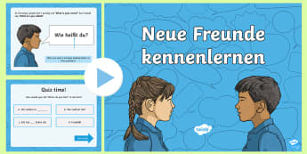 Getting to Know You PowerPoint German - Getting to know you, German, Basic phrases, MFL, Languages, All about me