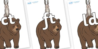 Final Letter Blends on Bear and the Hare - Final Letters, final letter, letter blend, letter blends, consonant, consonants, digraph, trigraph, literacy, alphabet, letters, foundation stage literacy