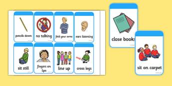Good Behaviour Commands Flash Cards - good behaviour, commands, flash cards