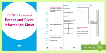 SATs Survival: 2017 KS2 SATs Assessment Parent and Carer Information Sheet - SATs Survival Materials Year 6, SATs, assessment, 2017, English, SPaG, GPS, grammar, punctuation, sp