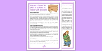 Memory Boxes for Staff in Schools to Make with Students - memory boxes, staff, schools, make, students