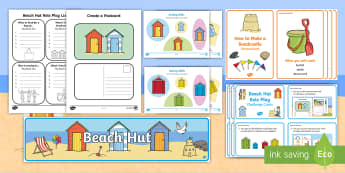 Beach Hut Role Play Pack - Seaside, Activity, Fun, Drama, Speaking and Listening, Ordering, Holiday, Brighton, beach, sea, ocea