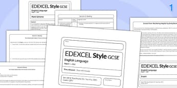 GCSE English Language Exam Paper 1 EDEXCEL 003 - gcse, english, exam, paper, 1
