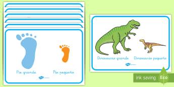 Pósters DIN A4: Grande y pequeño - grande, pequeño, comparación, comparar, objetos, frase, motivación, decoración, decorar, exponer