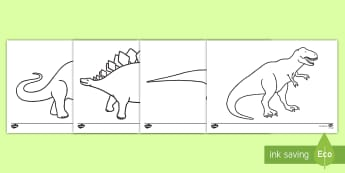 Dinosaurs Colouring Sheets - Dinosaur, colouring poster, colouring, fine motor skills, activity, history, t-rex, stegosaurus, raptor, iguanodon, tyrannasaurus rex