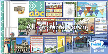 French: All Around Town Year 4 Additional Resources Pack
