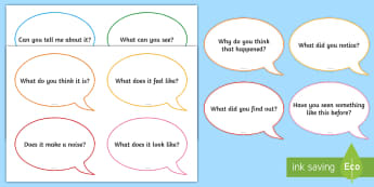 Investigation Area Question Cards - EYFS, Display,Exploration Area, Science, Understanding the World, investigate, explore.