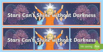 Stars Can't Shine Display Banner - Mental Health Awareness, World mental health day, positive psychology, positivity, Motivation