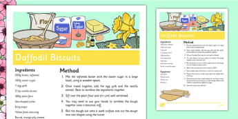 Daffodil Biscuits Recipe - daffodils, cooking, baking, biscuits, recipe