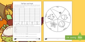 Fall Spin and Graph Activity Sheet - Fall, graph, Spin and Graph, Autumn, Seasons