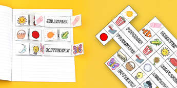 Compound Words Interactive Visual Aid Template - compound words