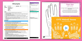 EYFS Diwali Mehndi Busy Bag Plan and Resource Pack