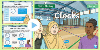 Year 4 Clocks Maths Mastery PowerPoint - Reasoning, Greater Depth, Abstract, Problem Solving, Explanation