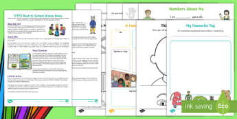 EYFS First Week Back Activity Pack - back to school, new term, new starters, transition, early years