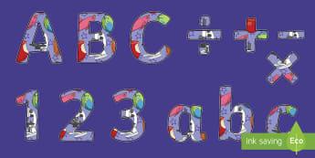 British Science Week Display Lettering - Signs and Labels, science display, science week,